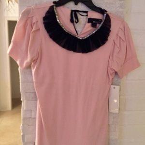 Forever 21 pink rhinestone shirt NWT Sz Small